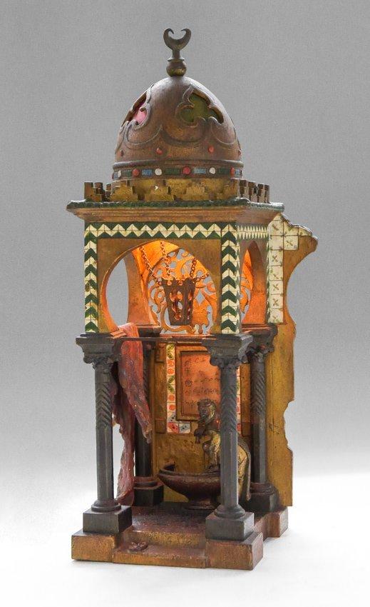 RARE FRANZ BERGMAN ORIENTLIST BRONZE LAMP