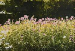 GARY AKERS PAINTING FLORAL LANDSCAPE