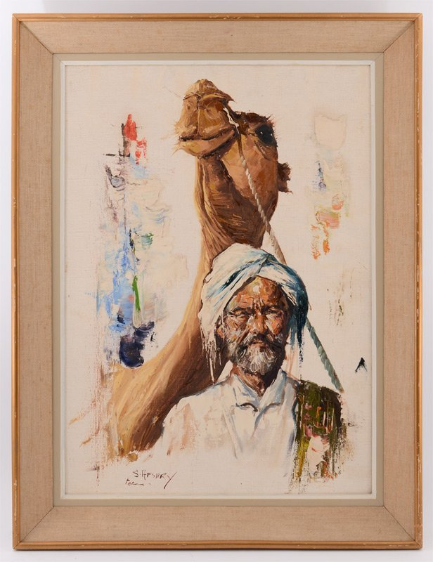 CYRUS AFSARY ARAB WITH CAMEL PAINTING - 2