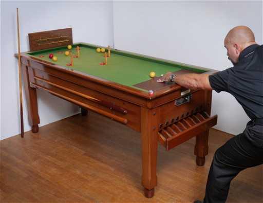 ENGLISH COIN OPERATED BAR BILLIARD TABLE - United billiards pool table coin operated