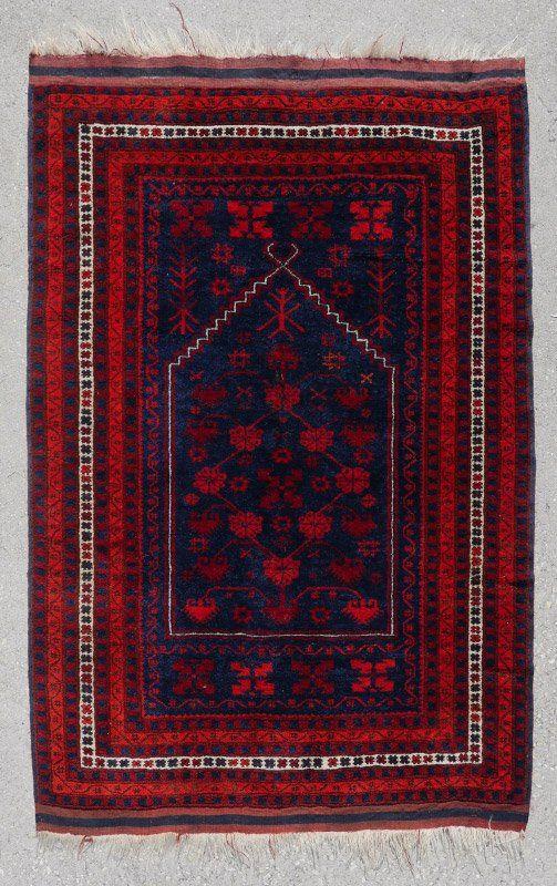 """25 YR OLD TURKISH YAGCI-BEDIR PRAYER RUG 3'7"""" X 4'8"""""""