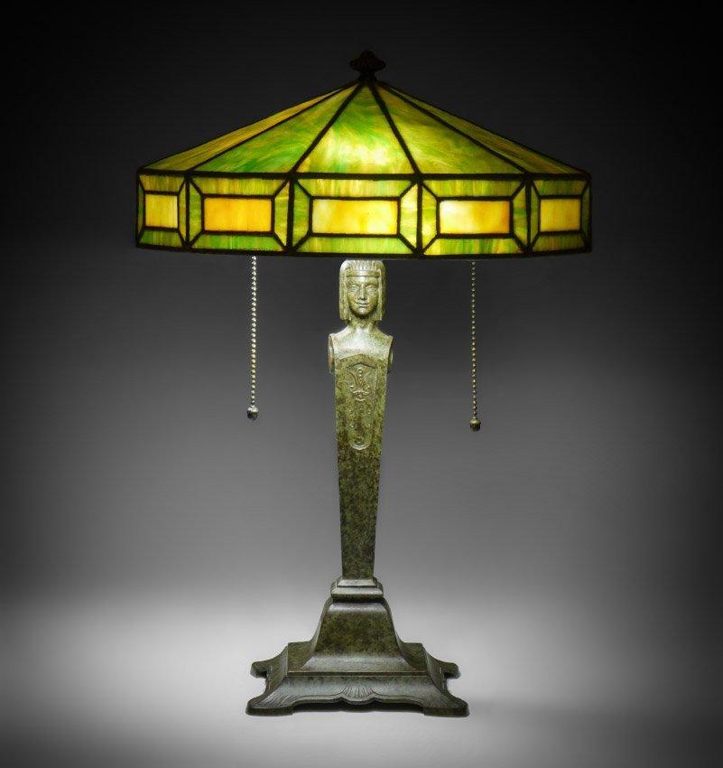 BRADLEY & HUBBARD FIGURAL TABLE LAMP