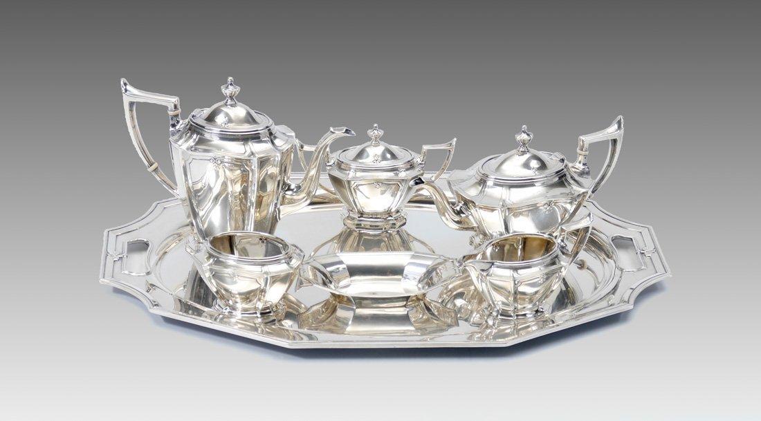 7 PIECE GORHAM KING ALBERT STERLING TEA SERVICE