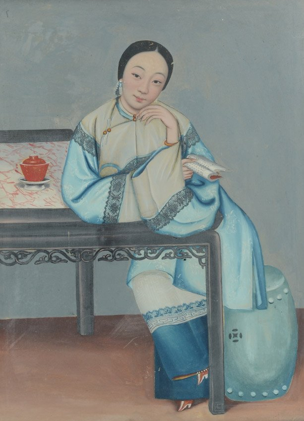 FINE 19TH C. CHINESE PORTRAIT PAINTING
