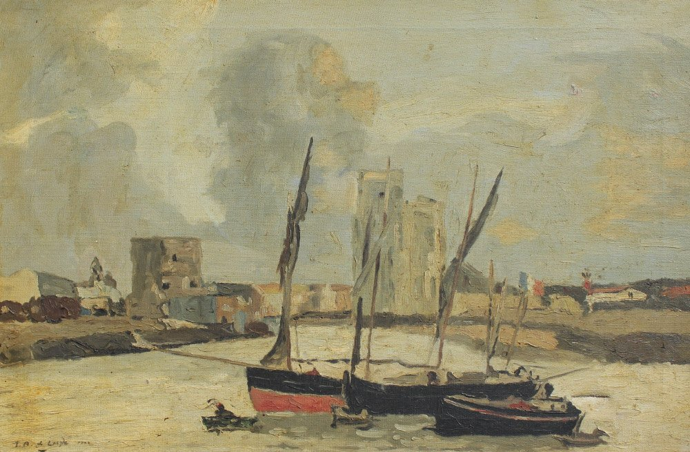 GOOD FRENCH HARBOR PAINTING