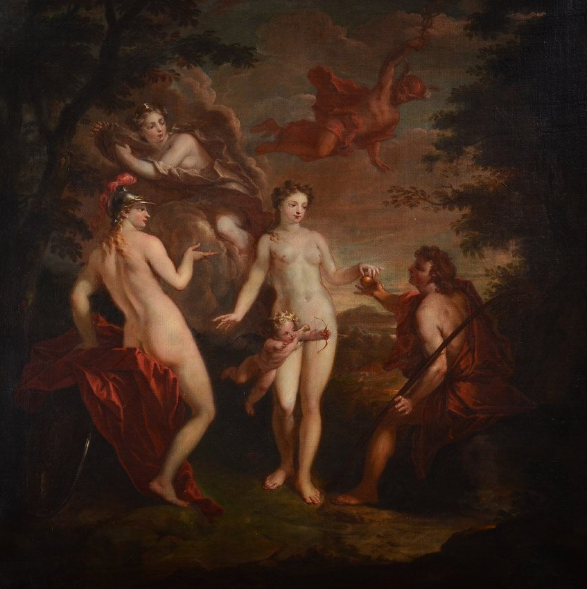 LARGE SHOW STOPPING JUDGEMENT OF PARIS OLD MASTER P