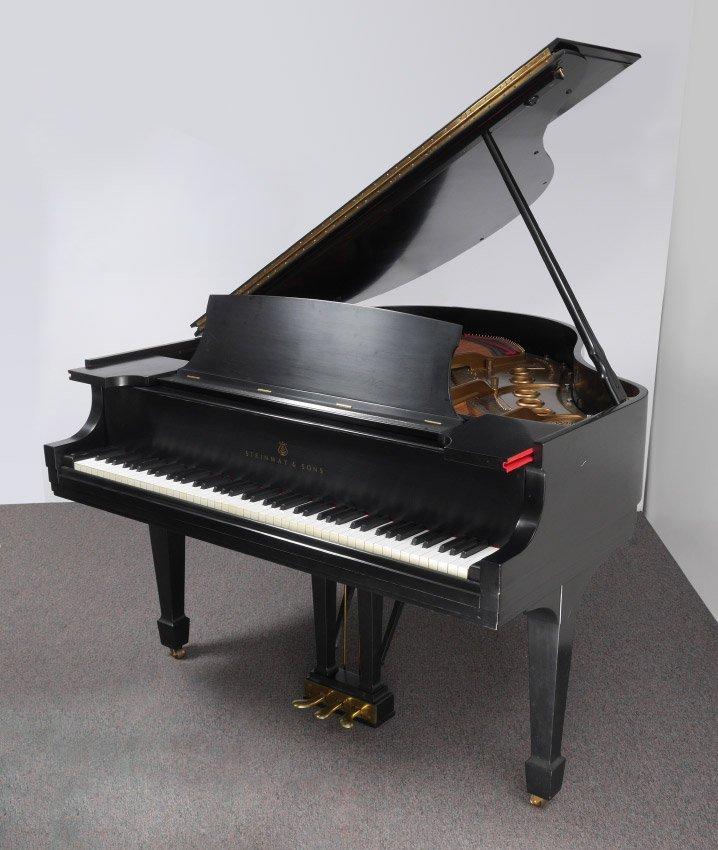EBONIZED STEINWAY MODEL S BABY GRAND PIANO