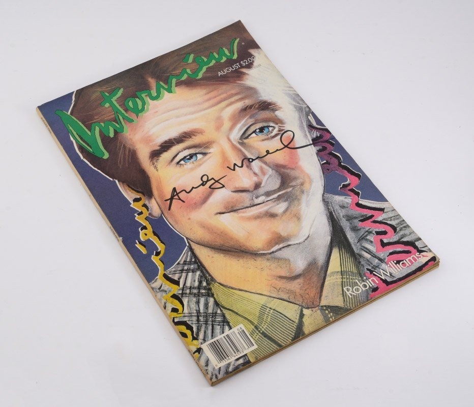 ANDY WARHOL AUTOGRAPHED INTERVIEW MAGAZINE