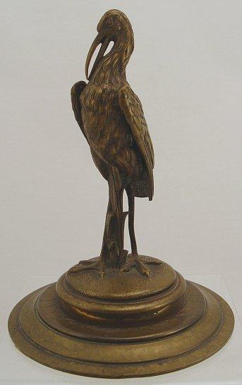 1005: EXCEPTIONAL MINIATURE BRONZE SCULPTURE BIRD 1900s