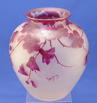 1016: SIGNED LEGRAS FRENCH ART GLASS VASE