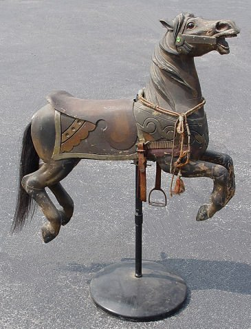 1020: ANTIQUE CARVED CAROUSEL HORSE