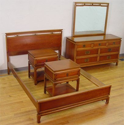 1176: KENT COFFEY TRADEWINDS ORIENTAL BEDROOM SET 6 PC