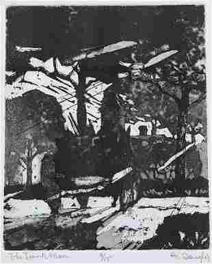 1212: RARE AARON DOUGLAS ETCHING THE JUNK MAN