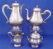 1439 CHRISTOFLE GALLIA FRENCH SILVER TEA SERVICE