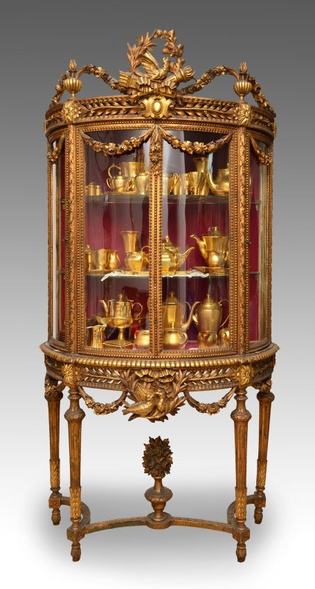 19TH C MUSEUM QUALITY FRENCH BOWFRONT CABINET