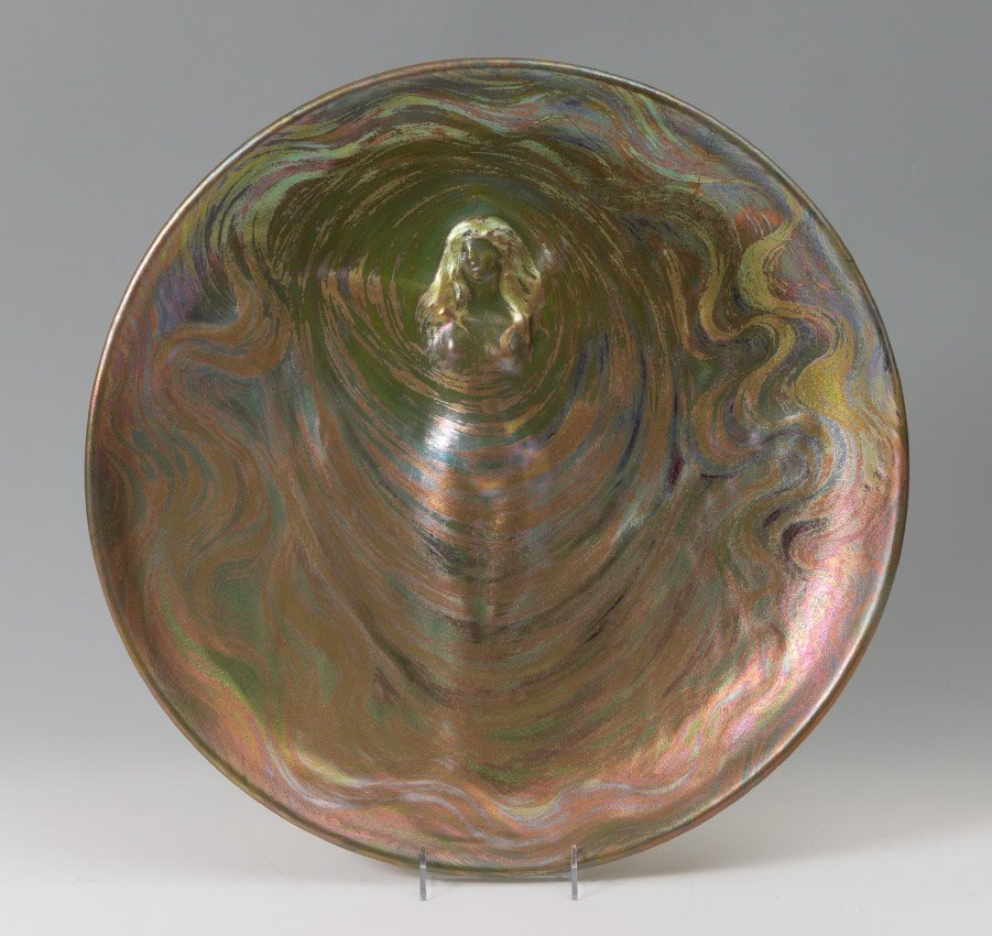 CLEMENT MASSIER ART NOUVEAU IRIDESCENT CHARGER