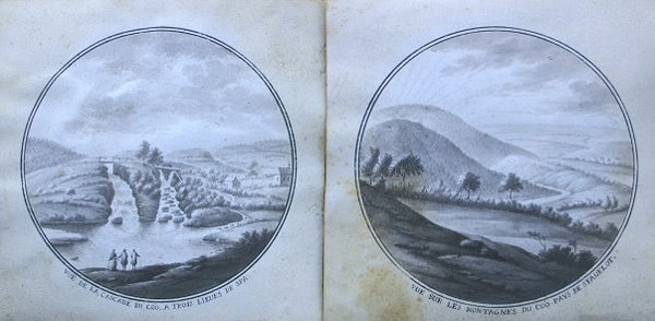6: PAIR OF MINIATURE FRENCH 19TH C. SEPIA PAINTINGS