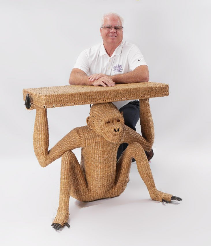 MARIO LOPEZ TORRES MONKEY WICKER TABLE TZUMINDI