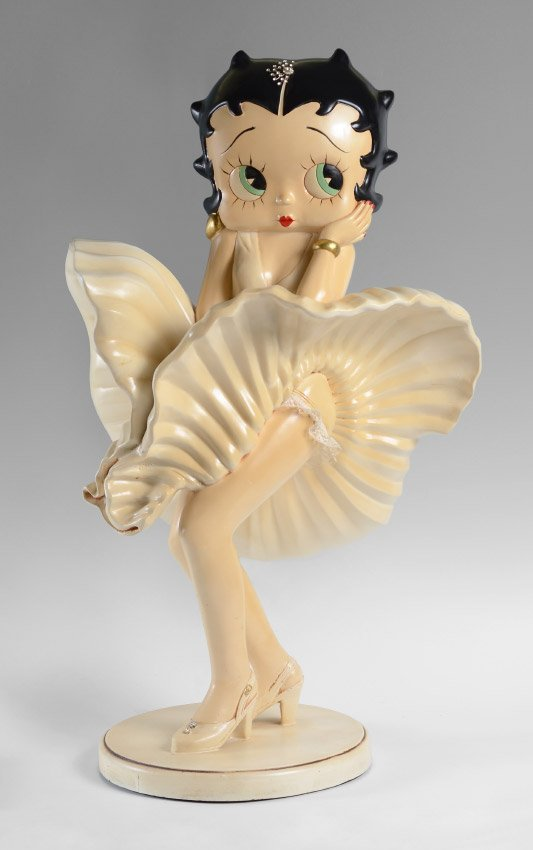Resin betty boop marilyn monroe figure cast resin betty boop marilyn monroe figure geotapseo Image collections