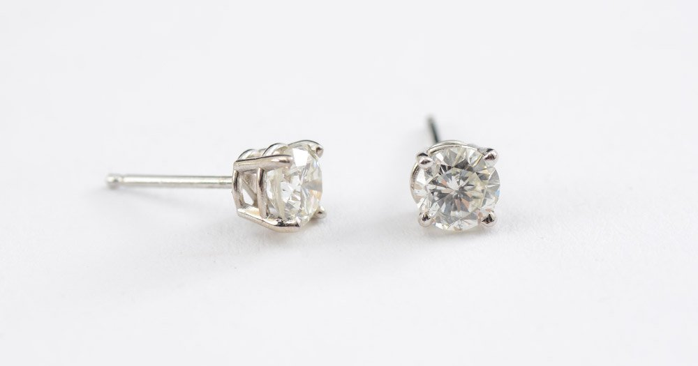 1 CT DIAMOND STUD EARRINGS NR