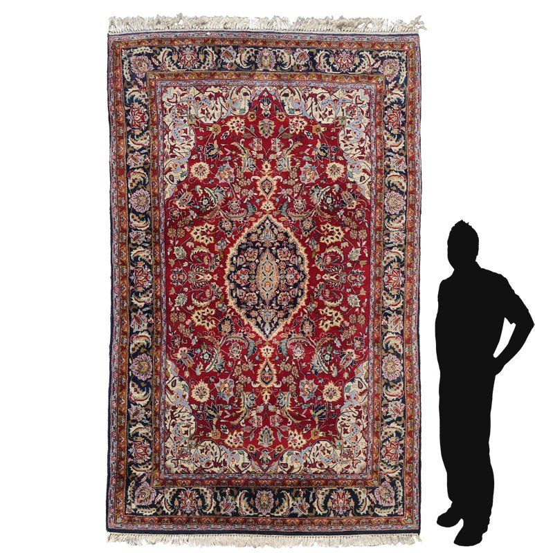 """PERSIAN HAND KNOTTED WOOL RUG 6'6"""" x 10'"""