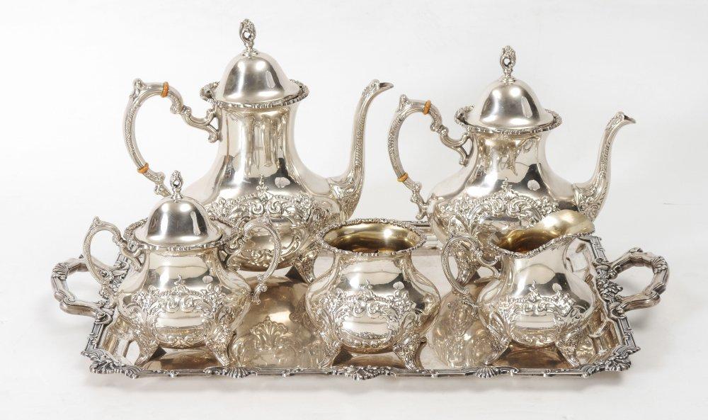 POOLE CREST OF WINDSOR STERLING TEA SET