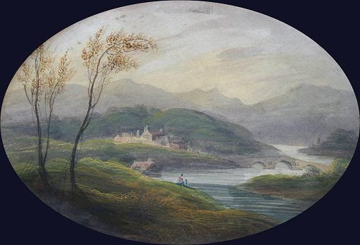 1022: 19th C. SIGNED ENGLISH LANDSCAPE