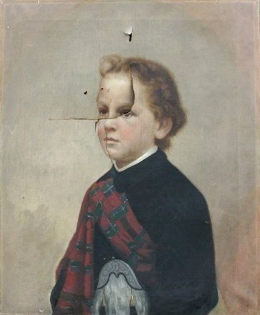 1023: GOOD PORTRAIT PAINTING OF A SCOTTISH BOY