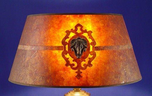 1380: VINTAGE MICA LAMP SHADE