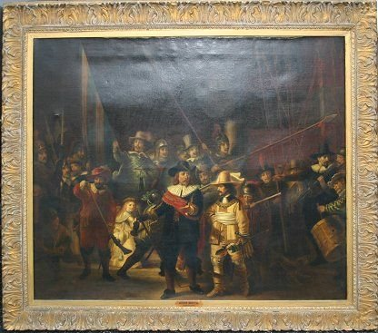 1138: LARGE 19TH C PAINTING AFTER REMBRANDT
