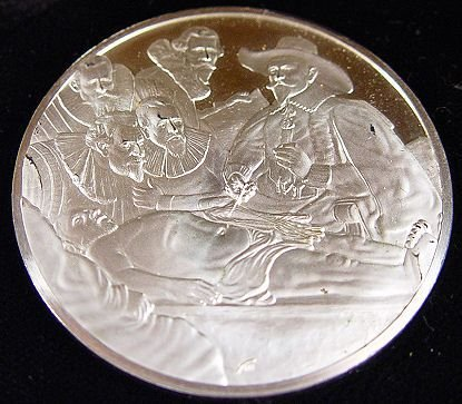 1374: FRANKLIN MINT THE GENIUS OF REMBRANDT 50 925 COIN - 3