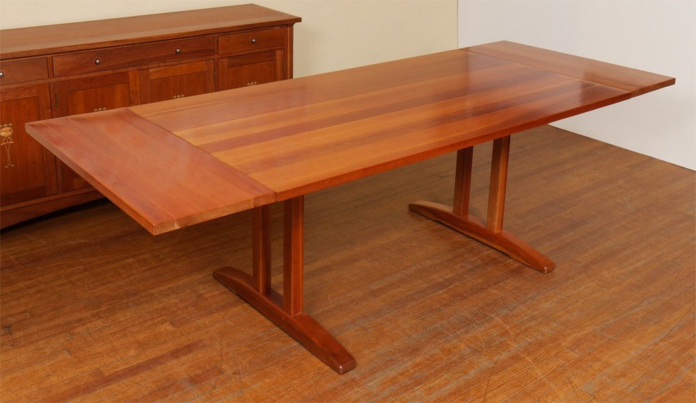 Stickley dining room furniture for sale - Stickley Cherry Trestle Dining Table