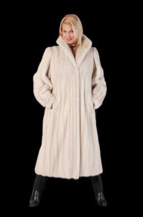 Full Length White Mink Fur Coat