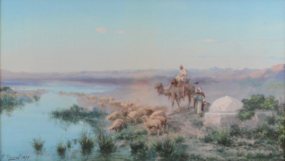 PAUL PASCAL ORIENTALIST PAINTING ARAB SHEPHERD