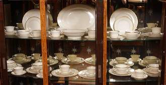 74 PC SYRACUSE OLD IVORY MONTICELLO FINE CHINA