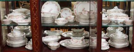 FRENCH LIMOGES CHINA SERVICE 88 PC FOR 12