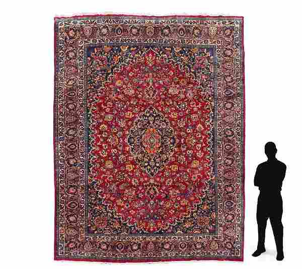 """PERSIAN HAND KNOTTED WOOL RUG 9'11"""" x 12'11"""""""
