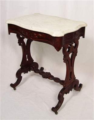 VICTORIAN MARBLE TOP STAND