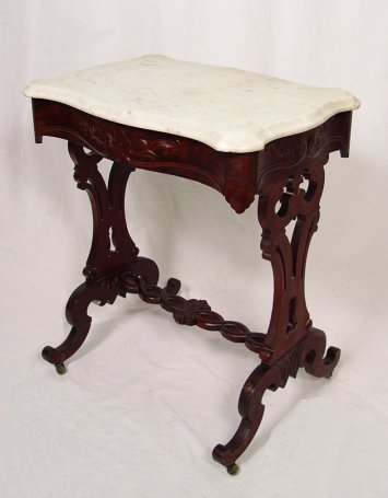 1003: VICTORIAN MARBLE TOP STAND