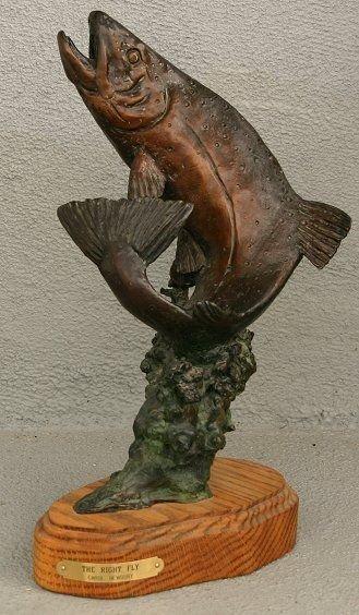 1004: CAROL NEWBURY BRONZE FISH TROUT