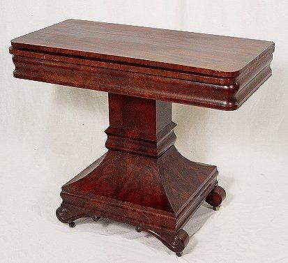 1005: EMPIRE PERIOD MAHOGANY GAME TABLE