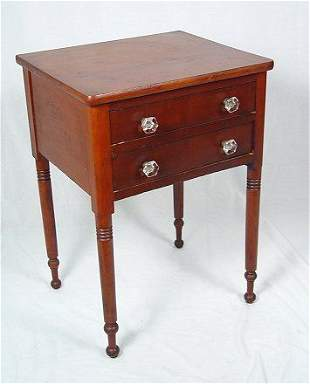 EARLY TWO DRAWER WORK STAND