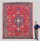 PERSIAN HAND KNOTTED WOOL RUG, 9'4'' x 12'6''