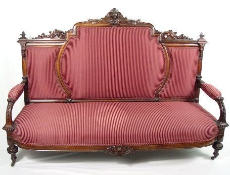 23: BEST VICTORIAN ROSEWOOD SOFA & SIDE CHAIR