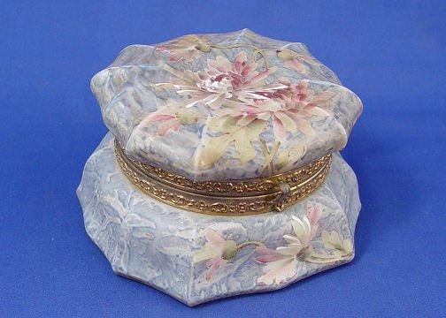 1004: C.F. MONROE KELVA ART GLASS DRESSER JAR