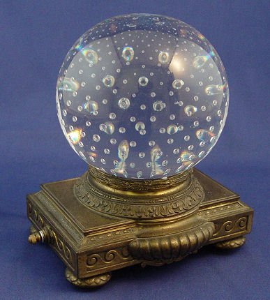 1016: PAIRPOINT CONTROL BUBBLE PAPERWEIGHT LAMP