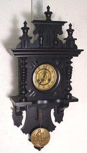 1229: VICTORIAN ADLER GONG REGULATOR WALL CLOCK
