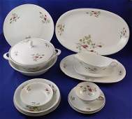 1323 91 PC WINTERLING PLATINUM ROSE FINE CHINA FOR 12