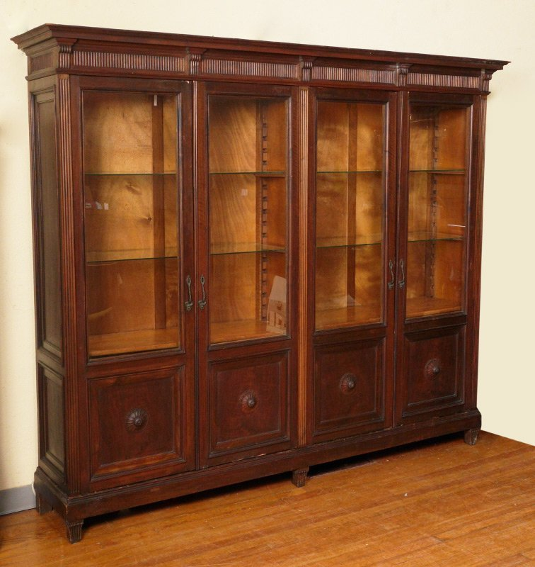 ITALIAN MOBILIFICIO SCORZA WALNUT BOOKCASE