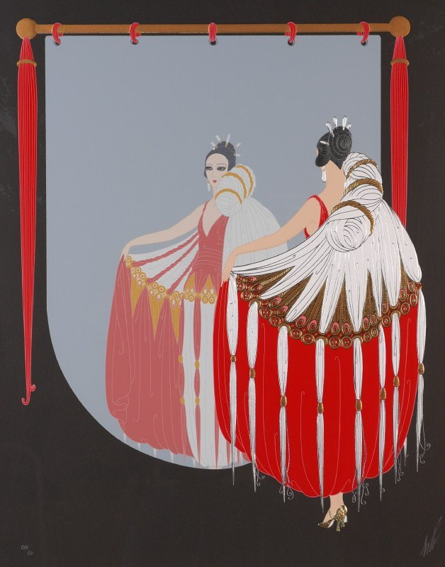 "ERTE SERIGRAPH ""THE MIRROR"""